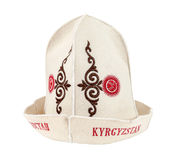 Traditional Kyrgyz hat Stock Image