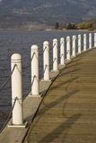 Traditional Lakeside Boardwalk Stock Photo