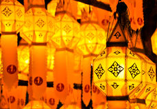 Traditional lamp in Chiang Mai Thailand Royalty Free Stock Photos