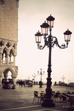 Lamp post in venice Stock Images