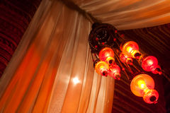 Traditional Lamps in an Arabic Tent Stock Photos
