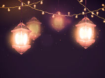 Traditional Lamps for Islamic Festival celebration. Stock Photo