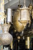 Traditional lamps on the market in Fes, Morocco Stock Image