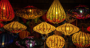 Traditional lamps in Old Town Hoi An, Vietnam. Royalty Free Stock Photos