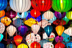 Traditional lamps in Old Town Hoi An, Vietnam. Stock Photo