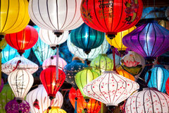 Traditional lamps in Old Town Hoi An, Vietnam. Royalty Free Stock Images