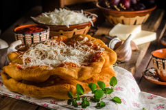 Traditional Langos Stock Photos