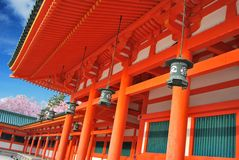 Traditional lanterns hanging outside a shrine Royalty Free Stock Photo