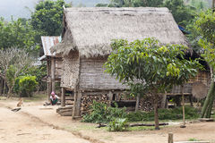 Traditional Laos Hill Tribe Home stock images