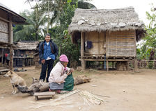 Traditional Laos Hill Tribe People Stock Images