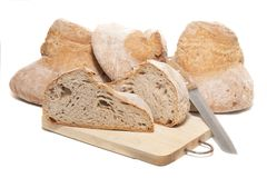 Traditional Large Loaf Of Bread Royalty Free Stock Photo