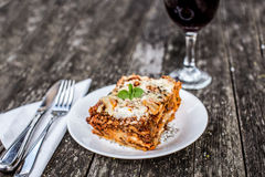 Traditional lasagna Stock Images