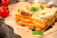 Traditional lasagna Royalty Free Stock Photos