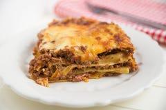 Traditional lasagna Stock Photo
