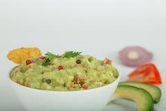 Traditional latinamerican mexican avocado sauce guacamole Stock Photos