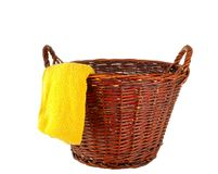 Traditional laundry basket Royalty Free Stock Photos