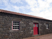 Traditional lava stone house Royalty Free Stock Photography