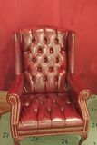 Traditional leather armchair Royalty Free Stock Images