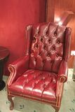 Traditional leather armchair Stock Photos