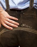 Traditional leather pants from Bavarian Stock Image
