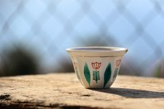 Traditional Lebanese Coffee Cup stock image