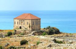 Traditional Lebanese house, Byblos stock photos