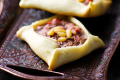 Traditional Lebanese meat pies Royalty Free Stock Image