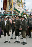 Traditional Lederhosen Costumes at the Oktoberest Royalty Free Stock Images