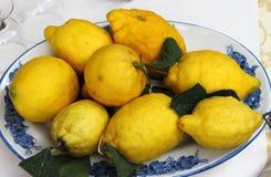 Traditional lemons in Amalfi Coast. Italy royalty free stock image