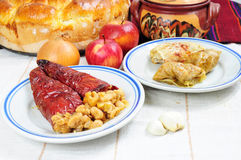 Traditional lenten fare from the Balkans Stock Image