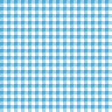 Blue Gingham Seamless Pattern. Traditional light blue and white gingham seamless pattern Royalty Free Stock Image
