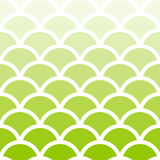 Traditional Light Green Seigaiha Japanese seamless wave pattern. Stock Images