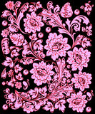 Traditional light pink flower pattern Stock Image