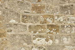 Traditional lime mortar pointing. A cut sandstone wall with traditional lime mortar pointing Royalty Free Stock Photography