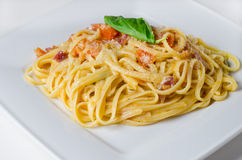 Traditional linguini plate Royalty Free Stock Photography