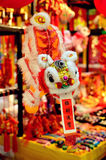 Traditional lion dancing Royalty Free Stock Photos