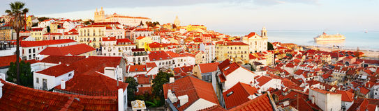 Traditional Lisbon, panorama Royalty Free Stock Images