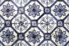 Traditional lisbon tiles background. Or texture stock image
