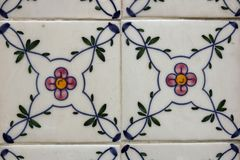 Traditional lisbon tiles background. Or texture royalty free stock photography