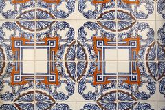 Traditional lisbon tiles background. Or texture stock photography