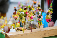 Traditional lithuanian Easter palm bouquets Royalty Free Stock Image