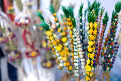 Traditional Lithuanian Easter palm known as verbos Stock Photos
