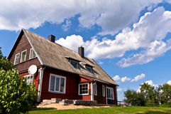 Traditional Lithuanian House in Trakai, Lithuania. Stock Photo