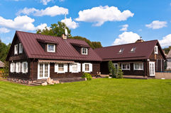 Traditional Lithuanian House in Trakai, Lithuania. Royalty Free Stock Images