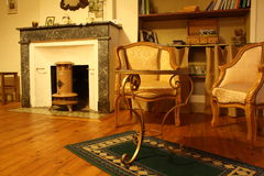 Traditional vintage living room Stock Images