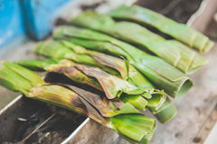 Traditional local food otak otak close up Stock Photos
