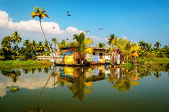 Traditional local house in backwaters of Kerala Stock Photos