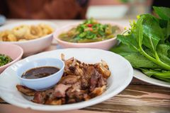 Traditional local Northern Thai style food meal. Local Thai food concept stock images