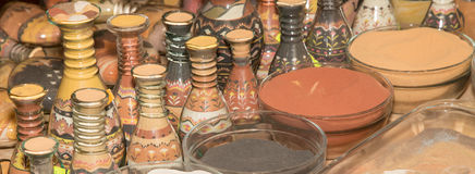 Traditional local souvenirs in Jordan Stock Image