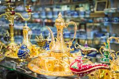 Traditional local souvenirs in Jordan, Middle East. stock photography